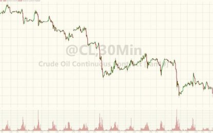 Oil Crashes To One Year Low, Brent Below $60 As Saudis Pump Record Crude